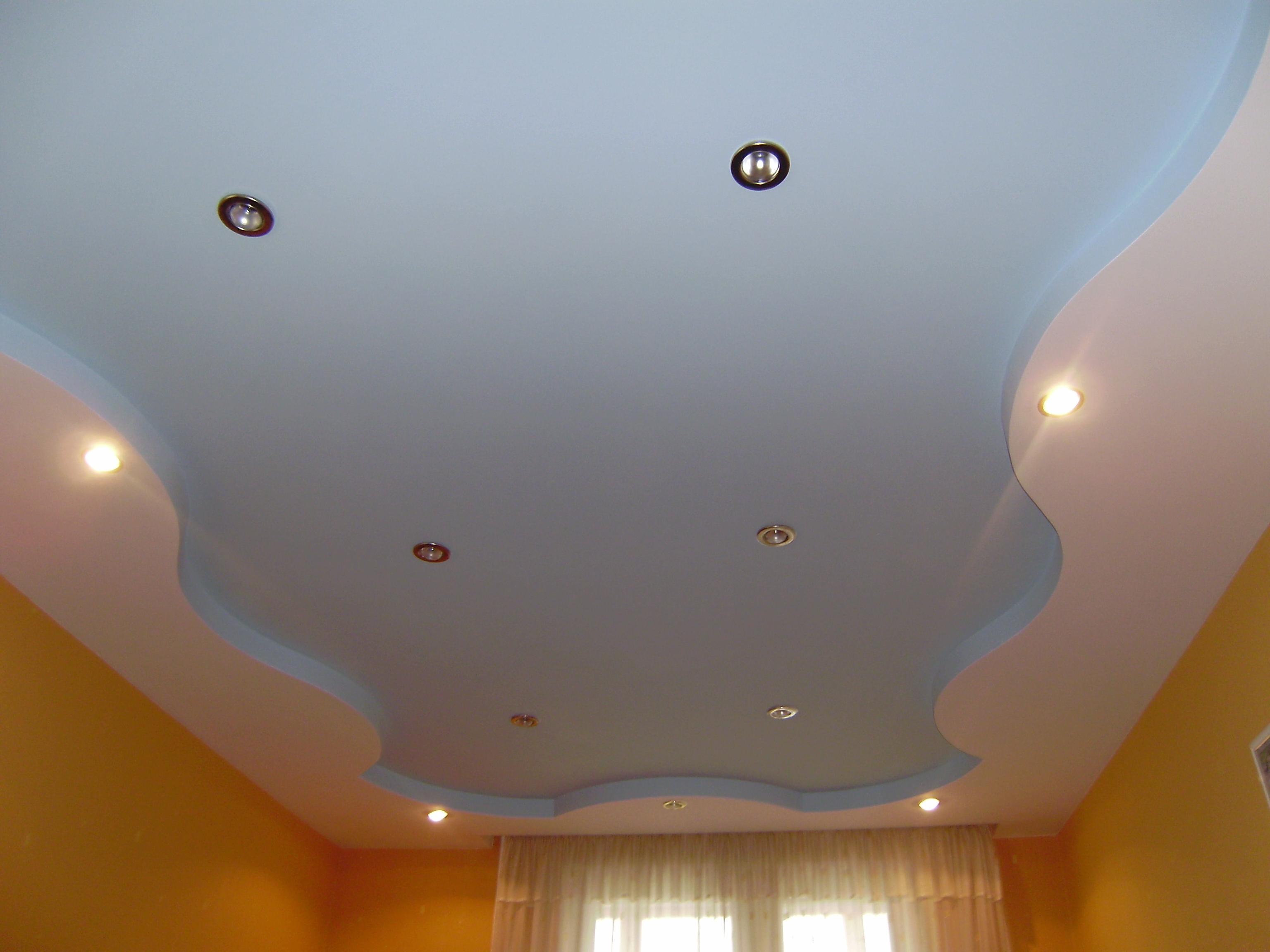 Потолок 2 уровня из гипсокартона своими руками